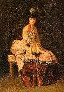 Jules-Adolphe Goupil Lady Seated oil painting artist